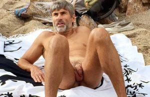 Male nudist beach