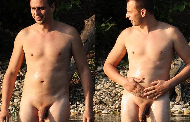 Nudists caught having sex