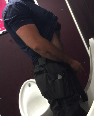 Uncut cocks pissing urinals gay these men 9