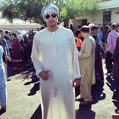 Arab Guy Cock Sneaks Under Transparent Suit
