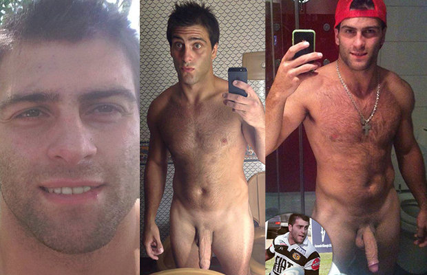 Amusing naked rugby player nude