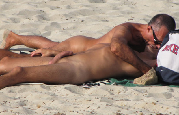 from Zackary beach cock gay gay hard nude