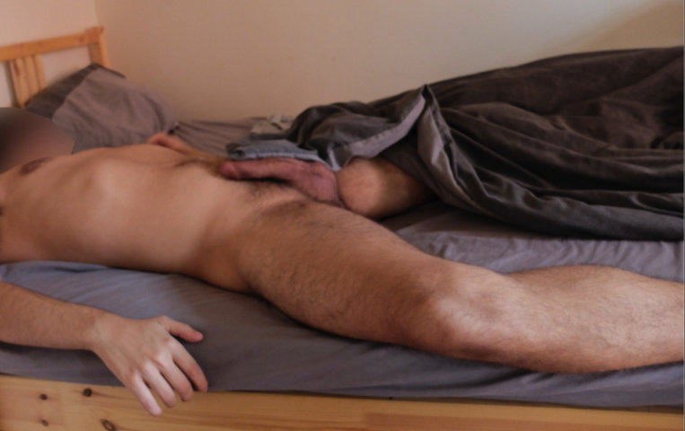 naked-room-mate-caught-sleeping-hard-dick-out