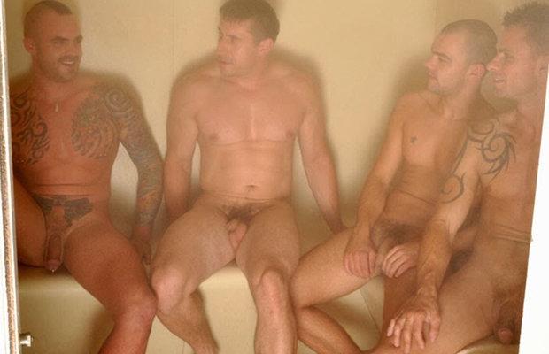 men sauna naked