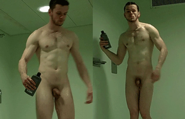 Men in the shower nude