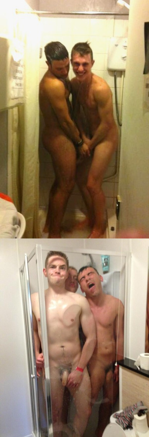 Nude showers with friends male