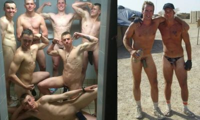 Naked milatary men