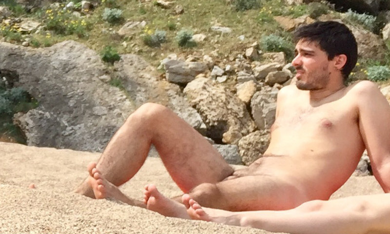 nudist beach guy caught