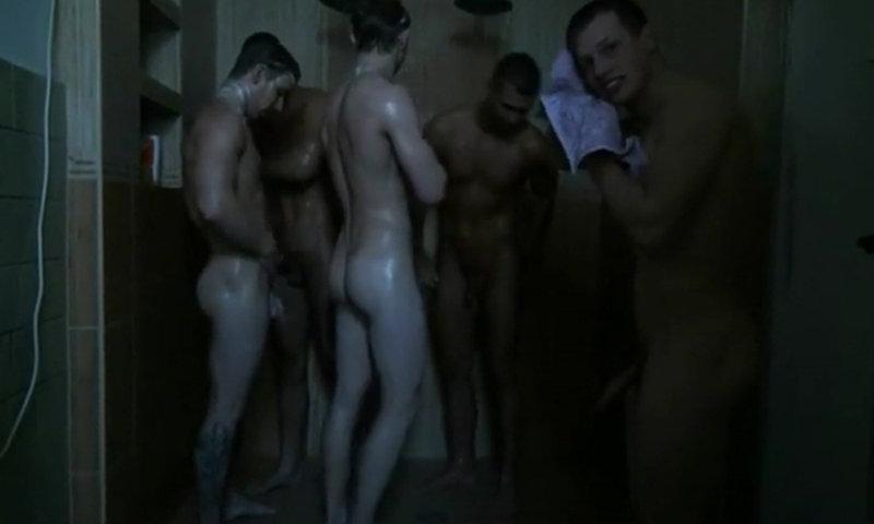 muscle studs shower together hardon