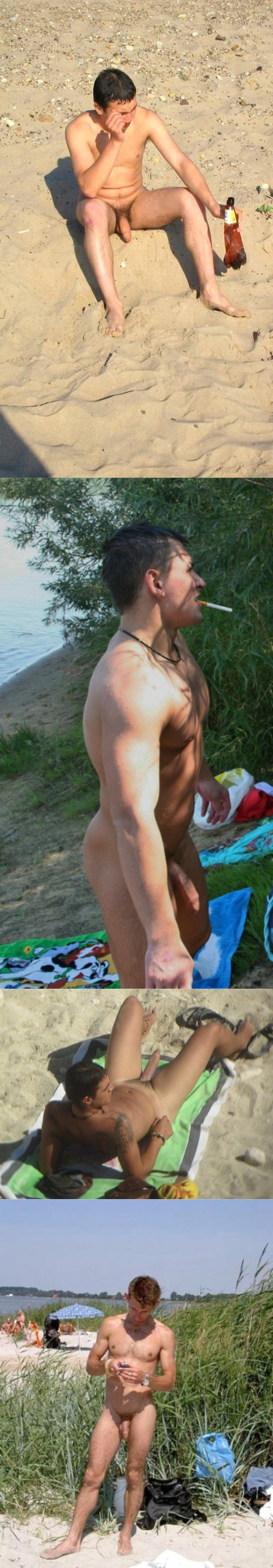 nudist men caught beach