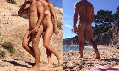 straight nudist guy caught by spycam at the beach