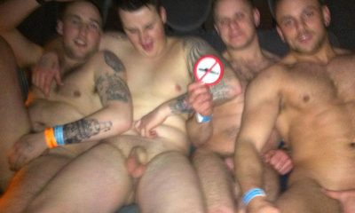image Group of straight dudes cumming together