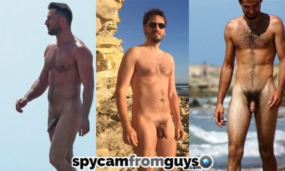 nudist beach guys caught