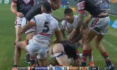 rugby playes pantsed accidentally shows ass