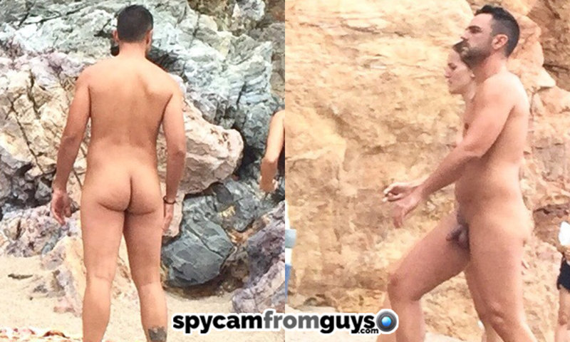 straight nudist guy caught over the beach