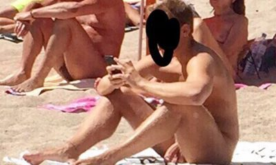 With Nude beach penis erection