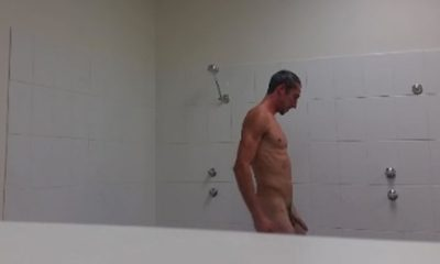 naked guy in shower