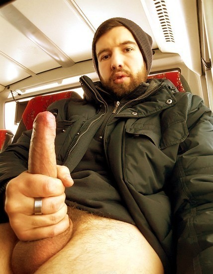 with dick showing off Men big