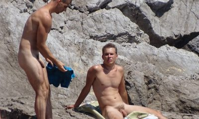 nudist guys caught by spycam