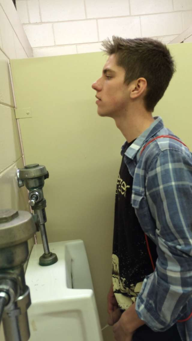 Boys piss in urinal gay blindfoldedmade to