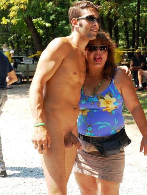Big cocks in public