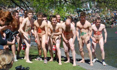 Nude men running #9