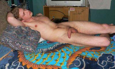 guy caught sleeping naked