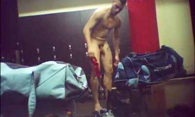 italian guy caught naked gym locker room