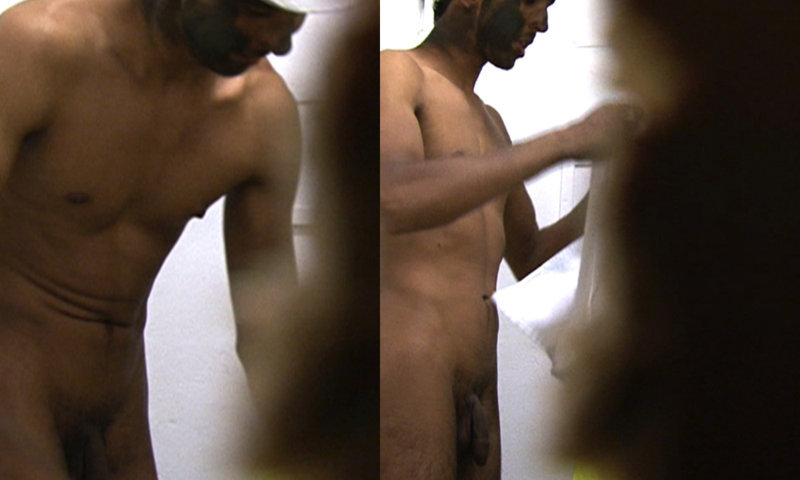 dirty worker caught naked changing room spycam