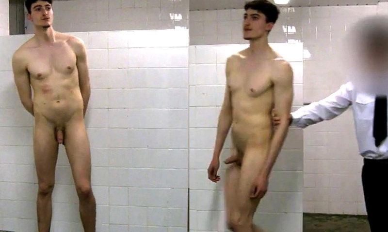 prisoner guy naked in shower