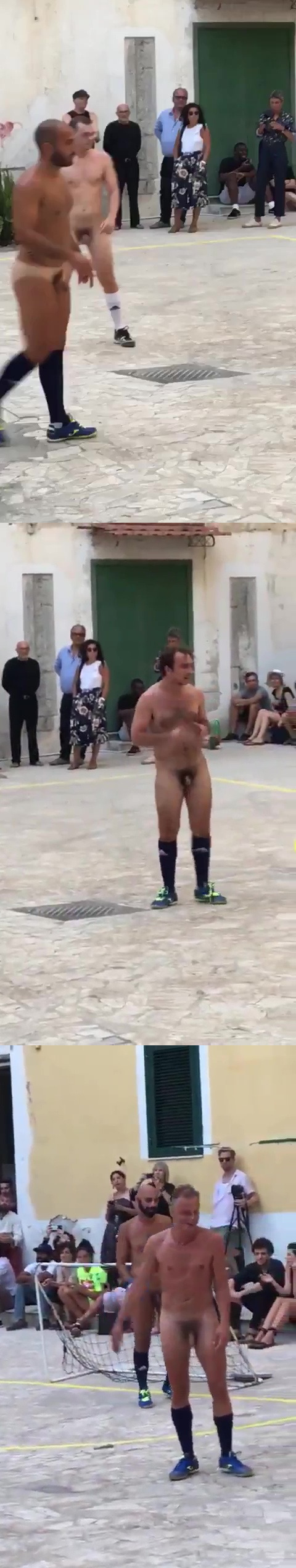 naked football match in public