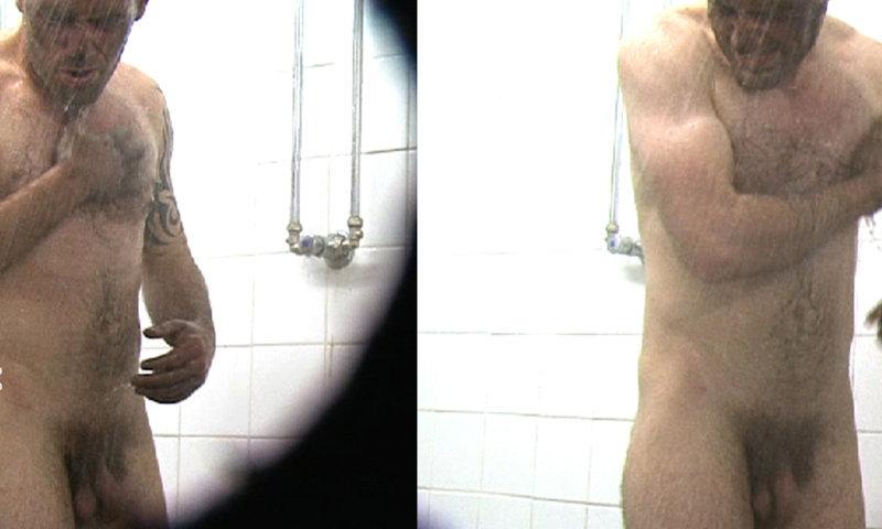 spy naked man shower