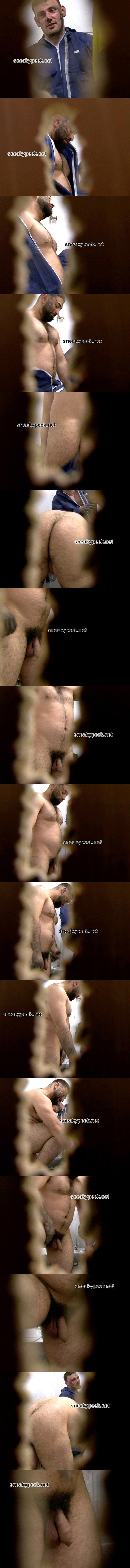 man with big hairy dick caught naked lockerroom