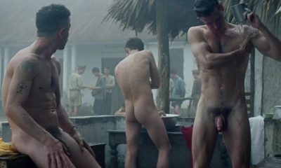 Gaspard Ulliel and Guillaume Gouix full frontal naked in movie les confins du monde