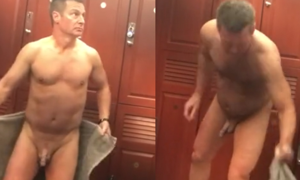 daddy caught naked gym locker room