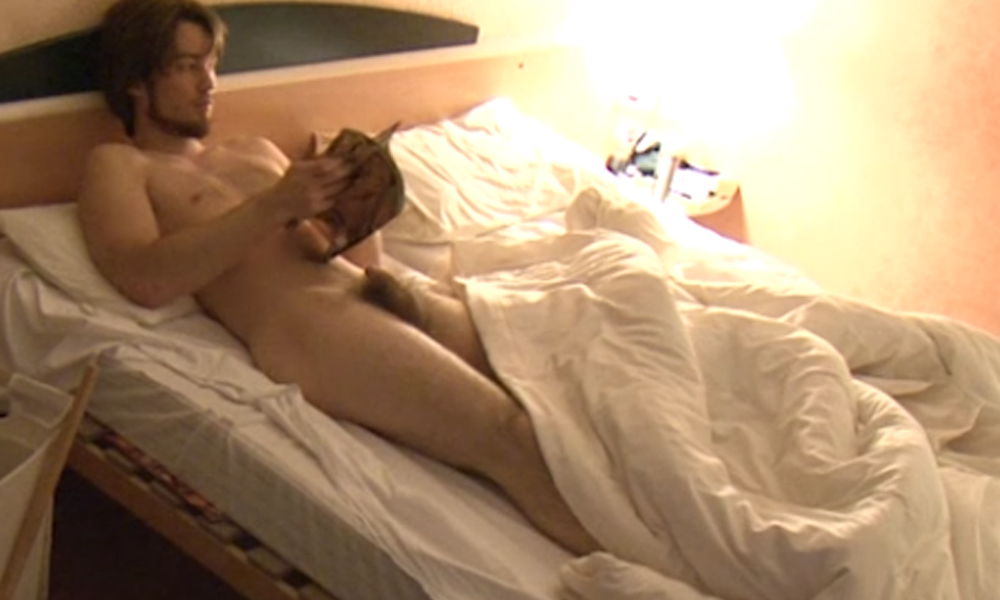 roomie caught naked in bed by spycam