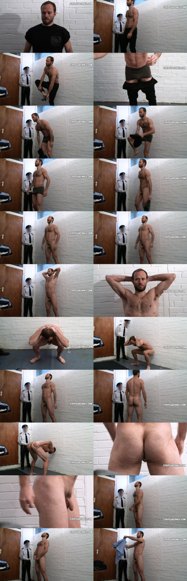 spy on prisoner man getting naked during strip search