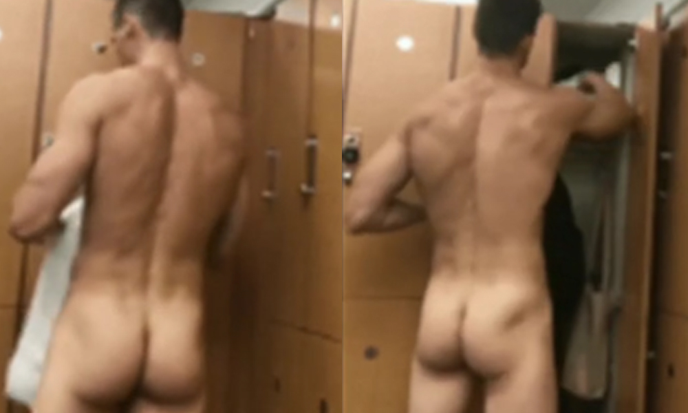 stud caught naked gym locker room