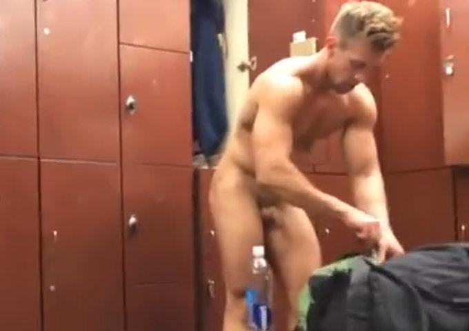 gym stud caught naked locker room