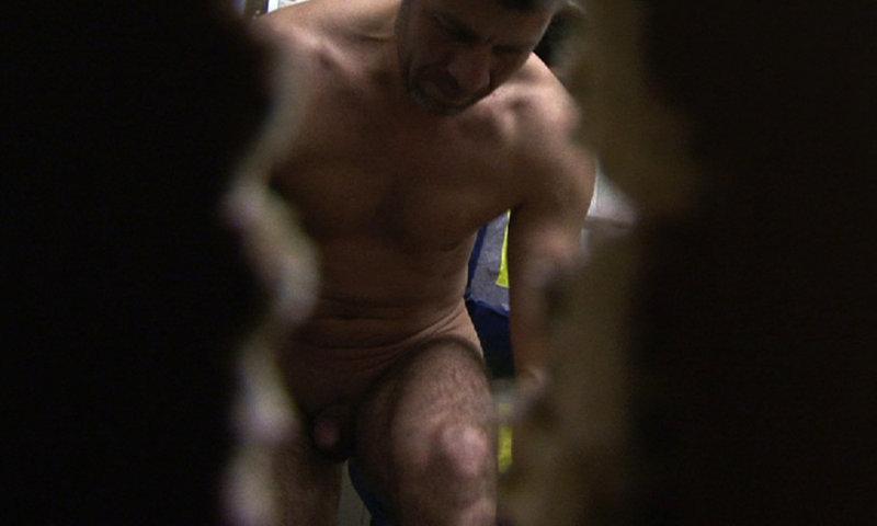 man caught naked gym locker room spy cam video