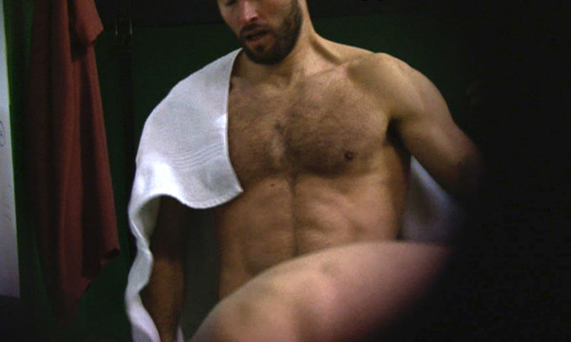 muscled dude caught naked gym locker room