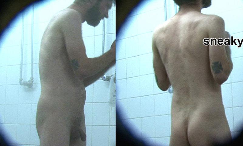 spy on naked man shower