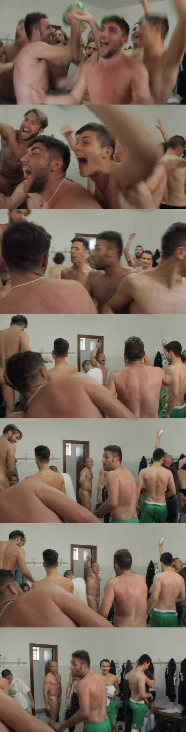 football club naked celebration locker room