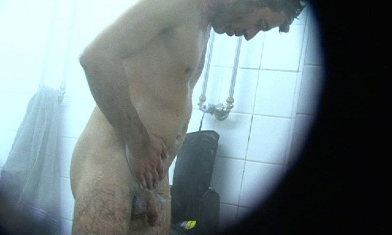 man caught naked gym shower room spycam
