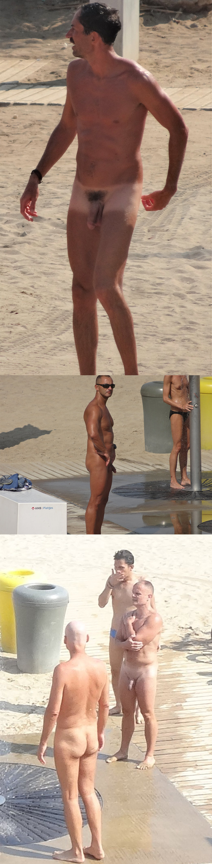 candid pics from nudist guys caught at the barcelona beach
