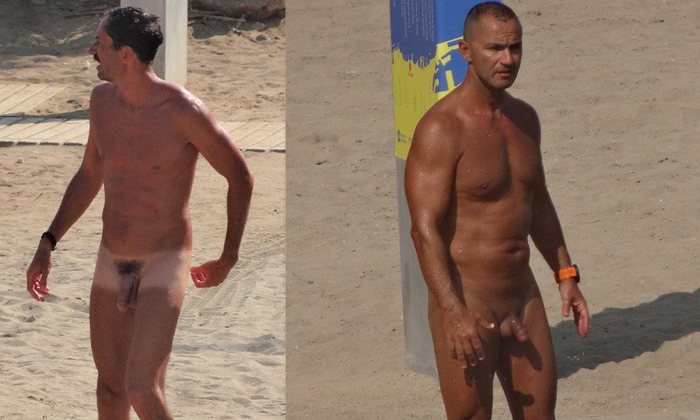 nudist guys caught by spacam in barcelona