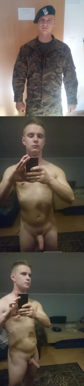 army guy naked selfie