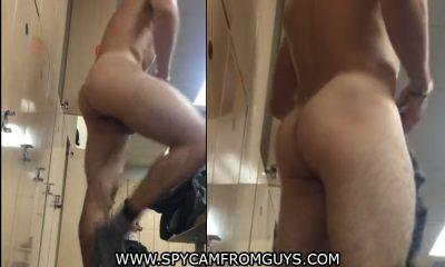 man with bubble ass caught naked in gym locker room