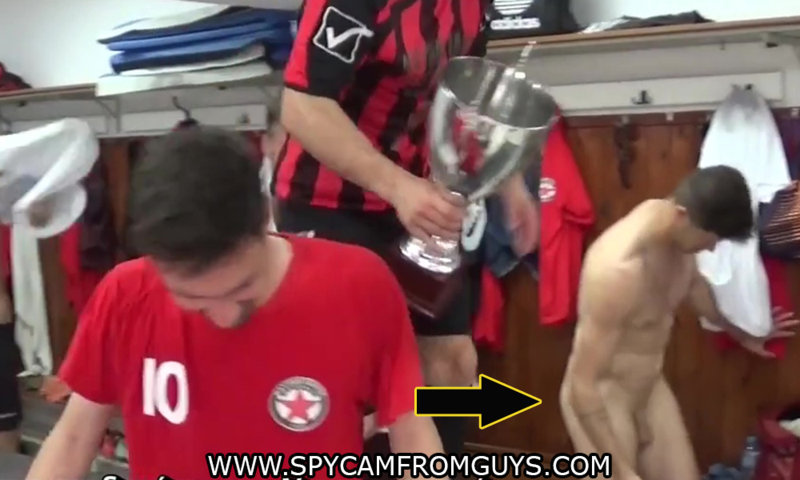 greek footballer caught naked accidentally in locker room