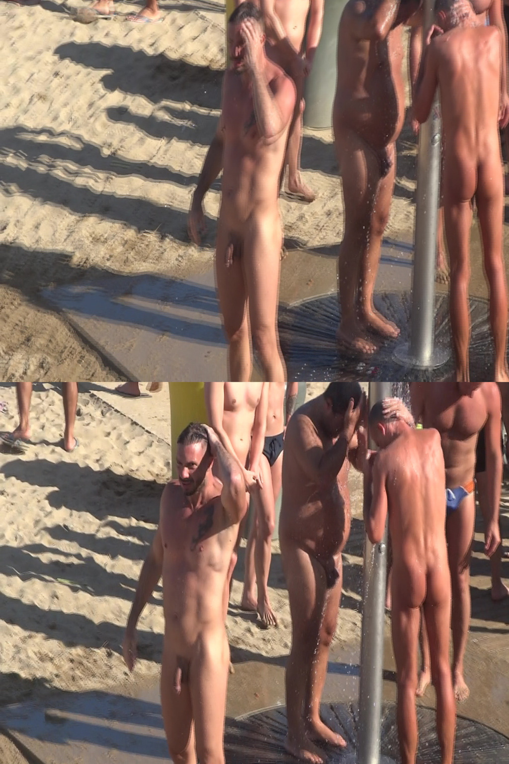 nudist man with huge cock caught beach